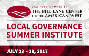 Local Governance Summer Institute 2017