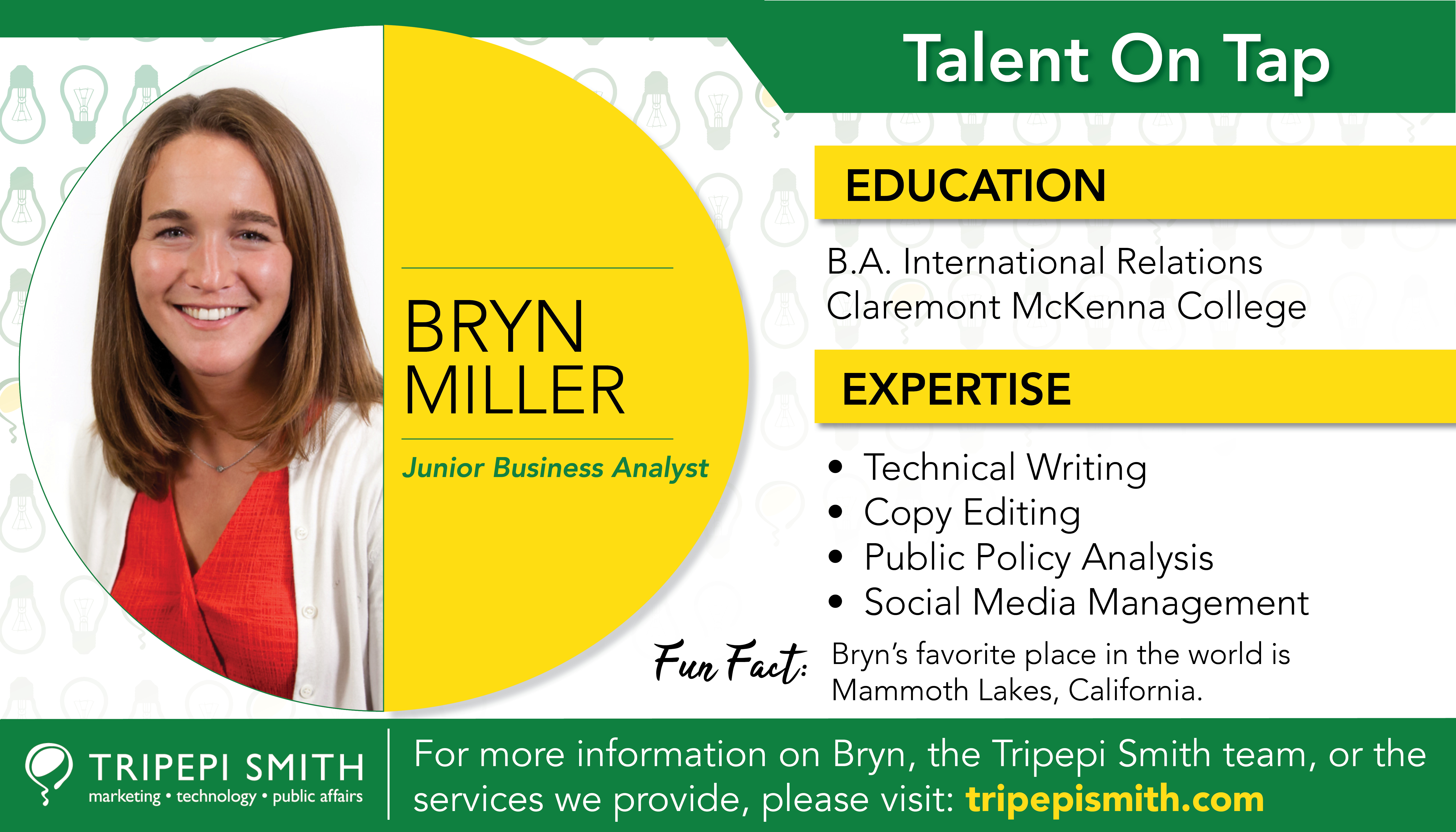Bryn Miller Talent on Tap