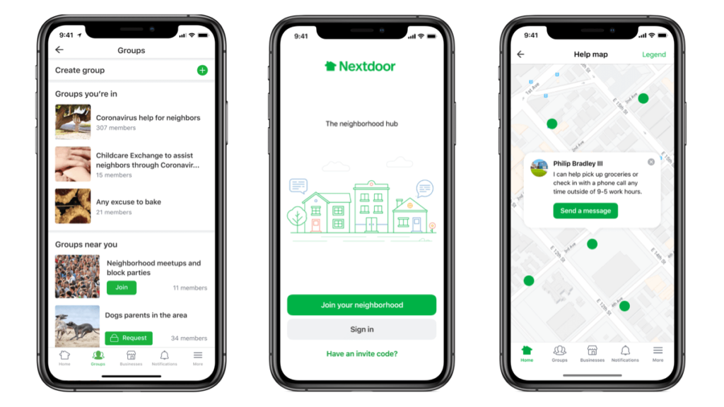 Nextdoor Launches new help map, group features and vetting mechanism in response to COVID-19